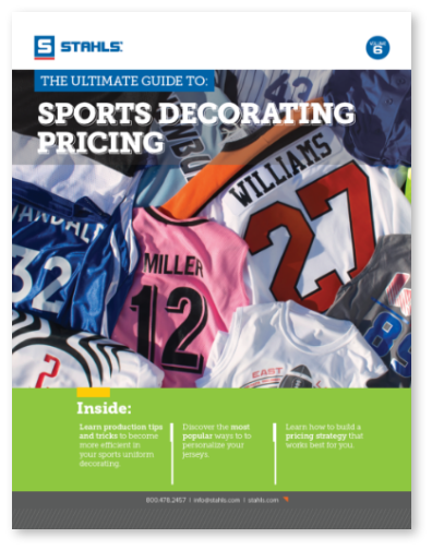 Sports Uniform Decorating Pricing Guide