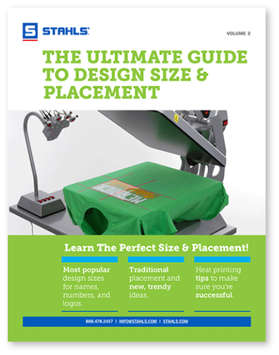 Heat Printing Design Size and Placement Guide