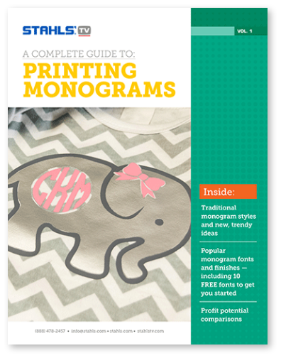 How to Print Monograms eBook