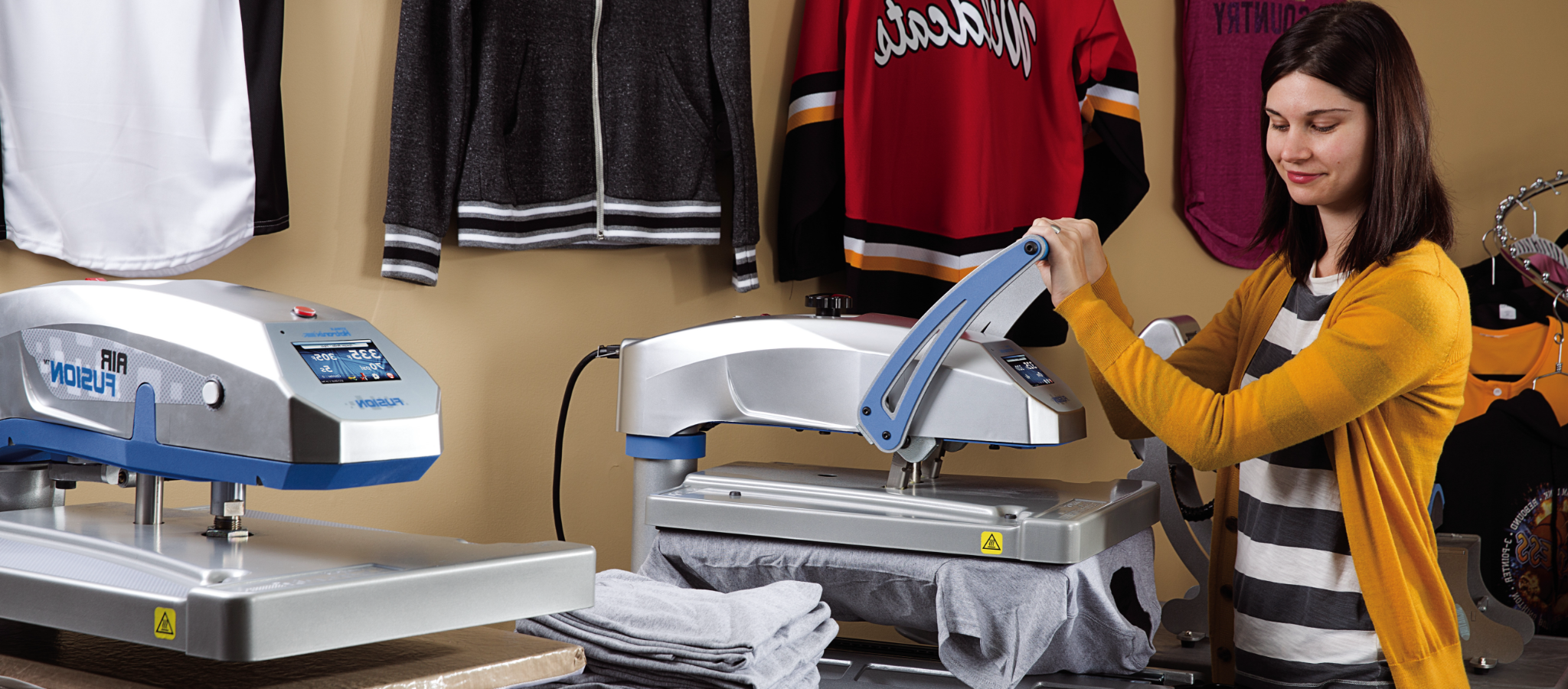 Expanding your business with a heat press showroom image