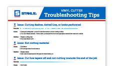 Vinyl Cutter Troubleshooting Tips