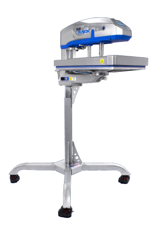 Air Fusion heat press machine with adjustable height stand