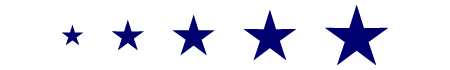 Estrellas precortadas
